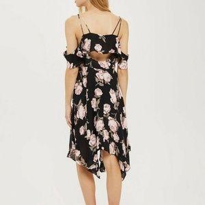 Asymmetrical Floral Midi Dress US 2 / UK 6